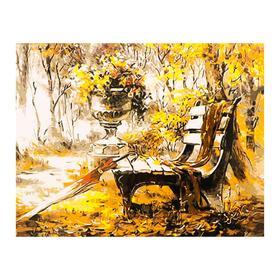Роспись по холсту «Осенние краски» по номерам с красками по3 мл+ кисти+инстр-я+крепёж, 30×40 см