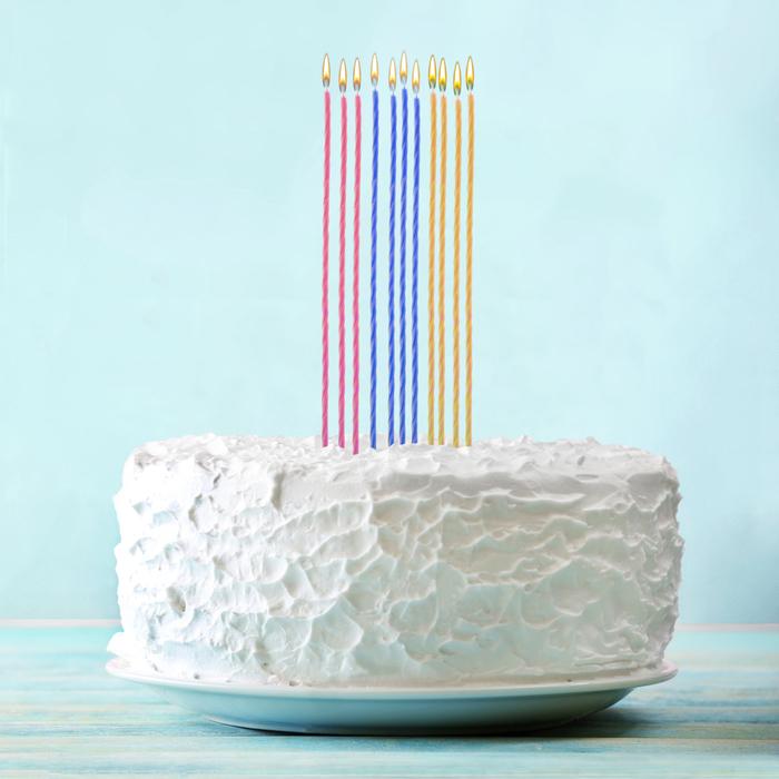 """Набор свечей в торт """"Свечи в торт"""" 10 шт. - фото 35609479"""
