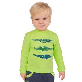 """Джемпер для мальчика """" Крокодилы"""", рост 98 см,  цвет салатовый ЮДД051067_М"""