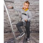 """Джемпер для мальчика """" Темп города"""", рост 128 см,  цвет серый, принт два автомобиля ПДД17685   27544"""