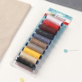 Set of threads 40/2, No. 4, 183 m, 10 pcs, MIX color