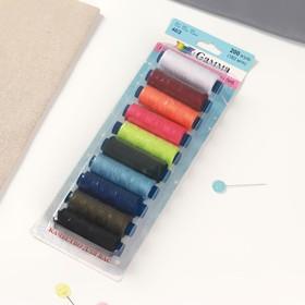 Set of threads 40/2, No. 5, 183 m, 10 pcs, MIX color