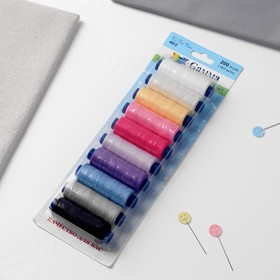 Set of threads 40/2, No. 07, 183 m, 10 pcs, MIX color