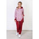 Комплект женский (толстовка, брюки) Мадам-2 цвет бордовый, р-р 54