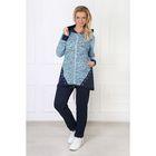 Комплект женский (толстовка, брюки) Мадам-2 цвет голубой, р-р 48