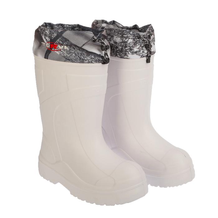 Сапоги с утепляющей вставкой, до -60 °С, размер 42, цвет белый