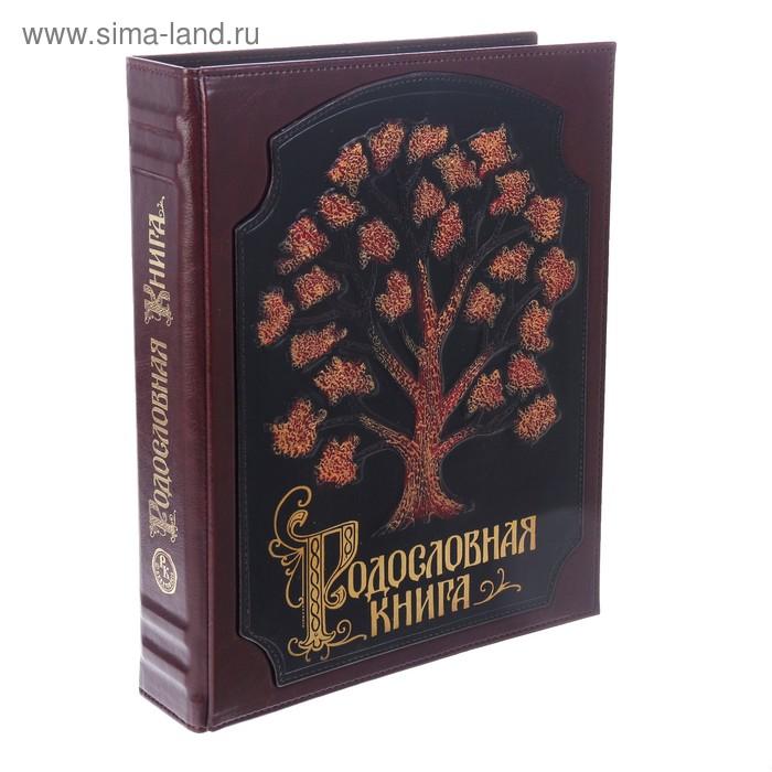 """Родословная книга-альбом """"Роспись комби"""", 108 листов, кожа"""