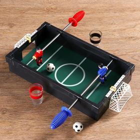 """Игра """"Пьяный футбол"""", поле 36х20 см, 2 стопки, 2 мяча"""