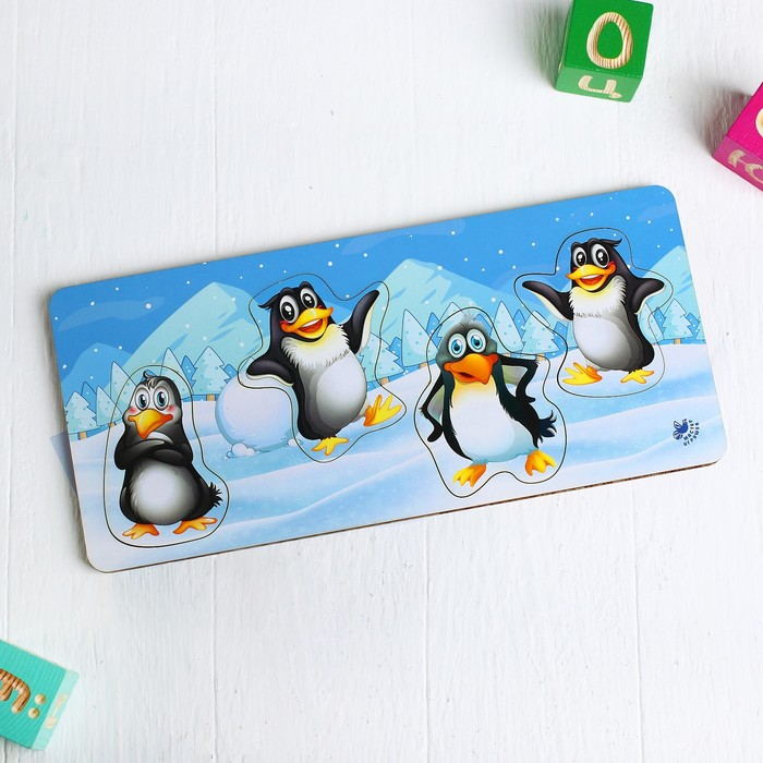 Рамка-вкладка «Пингвины»