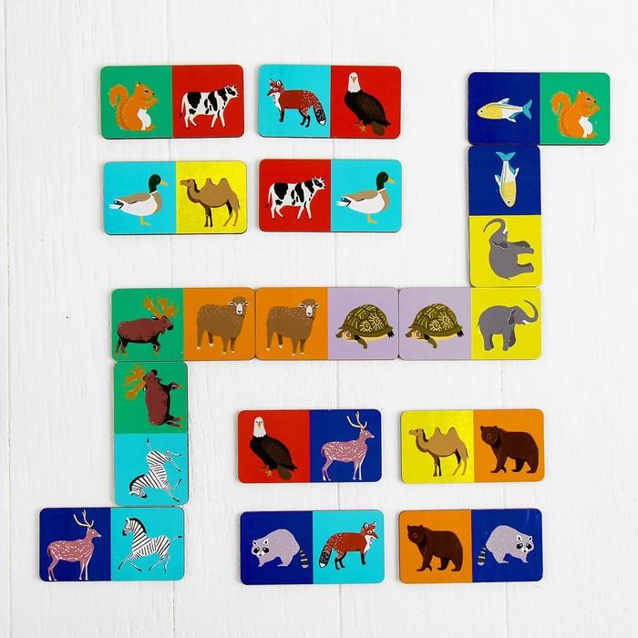 Домино «Животные» (развивающая игрушка)МИКС