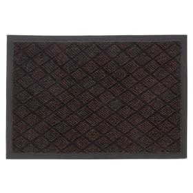 Коврик придверный влаговпитывающий «Галант», 40×60 см, цвет коричневый