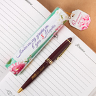 """Ручка пластиковая """"Любимому учителю в день 8 Марта"""", в тубусе"""
