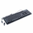 Клавиатура Sven Standard 301, проводная, мембранная, 105 клавиш, USB+PS/2, чёрная