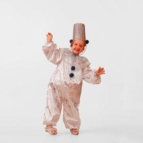 Карнавальный костюм «Снеговичок Снежок», сатин, размер 26, рост 104 см