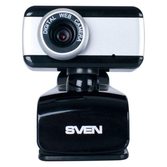 Веб-камера SVEN IC-320, 0.3 МП, 640x480, черно-серебристая
