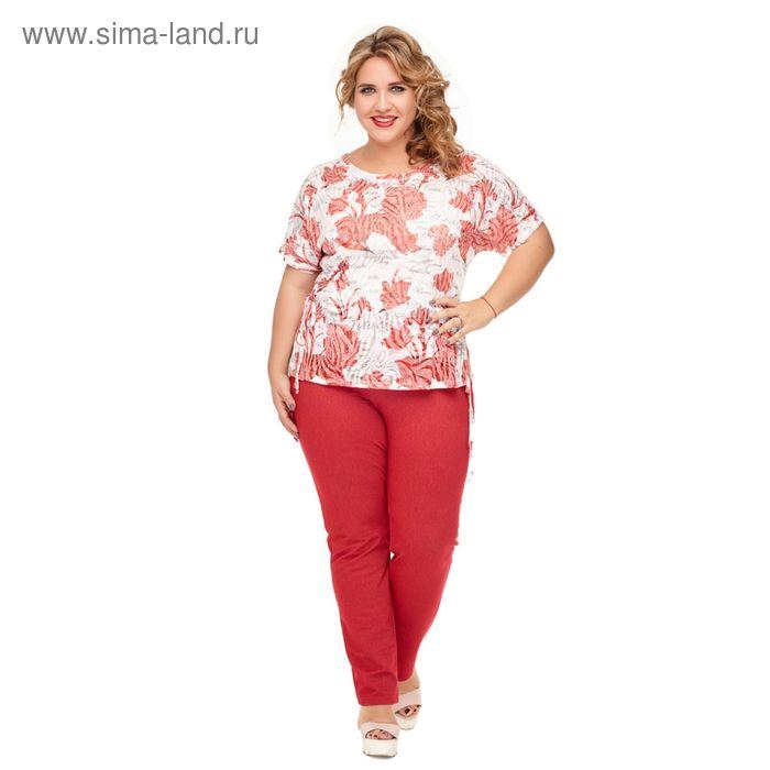 "Блуза женская ""Камилла"", размер 50, цвет красный 946К"