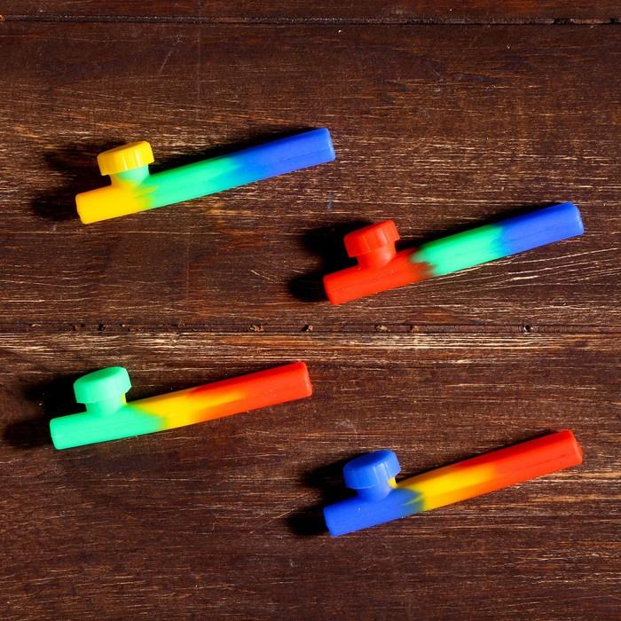 Трубка из силикона с крышкой, 2×8.5×1.5 см, МИКС