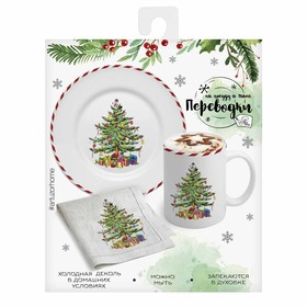 "Transporting on the dishes (cold decal) ""Holiday Trees"", 12 x 14 x 2 cm"