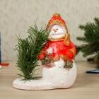 "Статуэтка ""Снеговик с фонарём"", 19 см, микс"