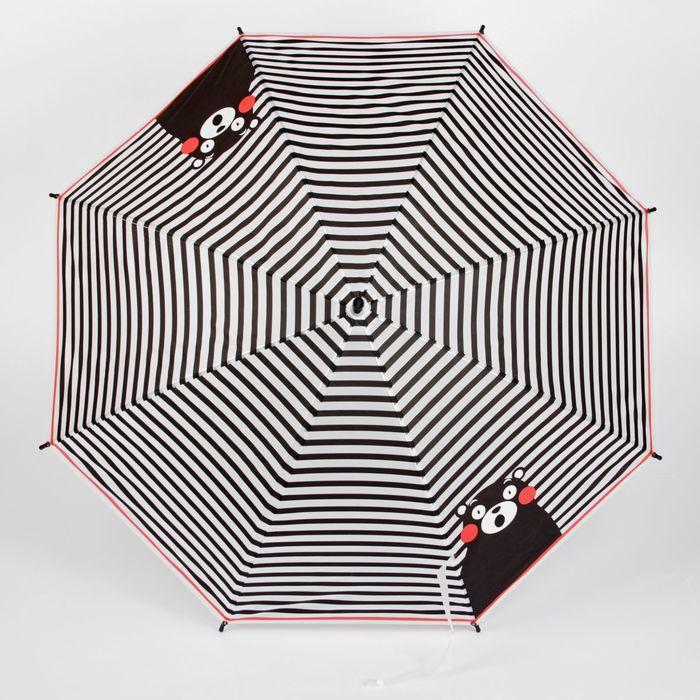 """Зонт детский """"Медведь"""", полуавтоматический, r=45см, цвет чёрный"""