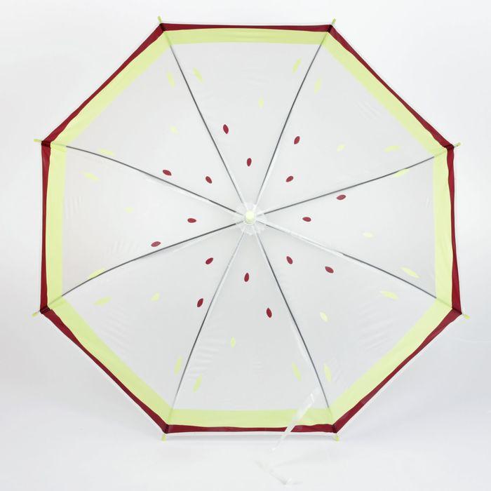 """Зонт детский полуавтоматический """"Киви"""", r=45см, цвет прозрачный/жёлтый"""