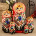 Матрёшка «Даша», красный платок, 5 кукольная, 17 см, люкс