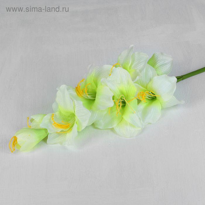 """Цветы искусственные """"Гладиолус Арабиан"""" 12*96 см, белый"""