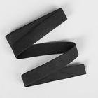 Лента бельевая, 20мм, 1м, цвет чёрный