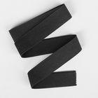 Резинка бельевая, 51306, 1м, цвет чёрный