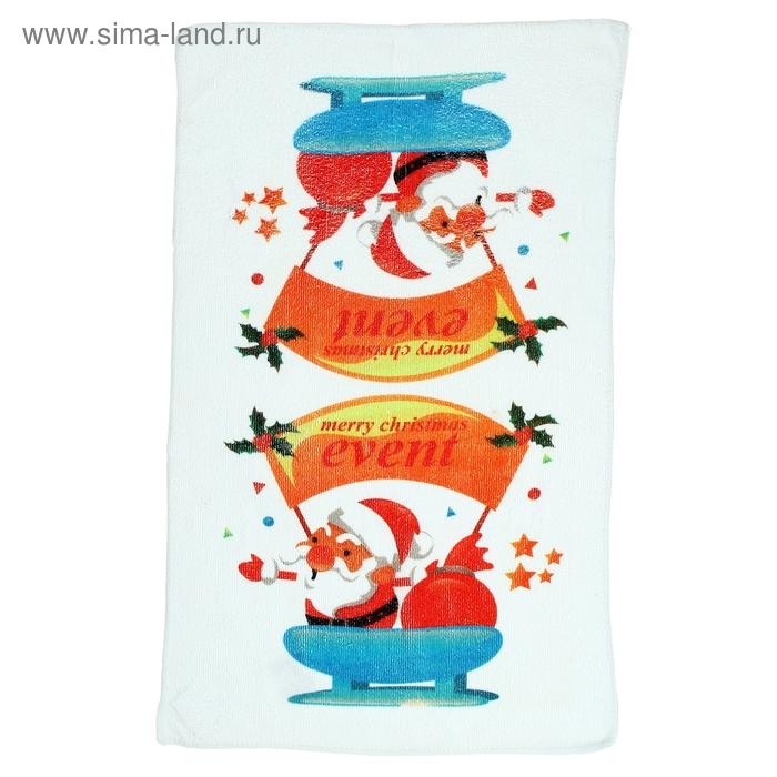 """Полотенце кухонное """"Новый год. Сани"""" 40х60 см, микрофибра"""