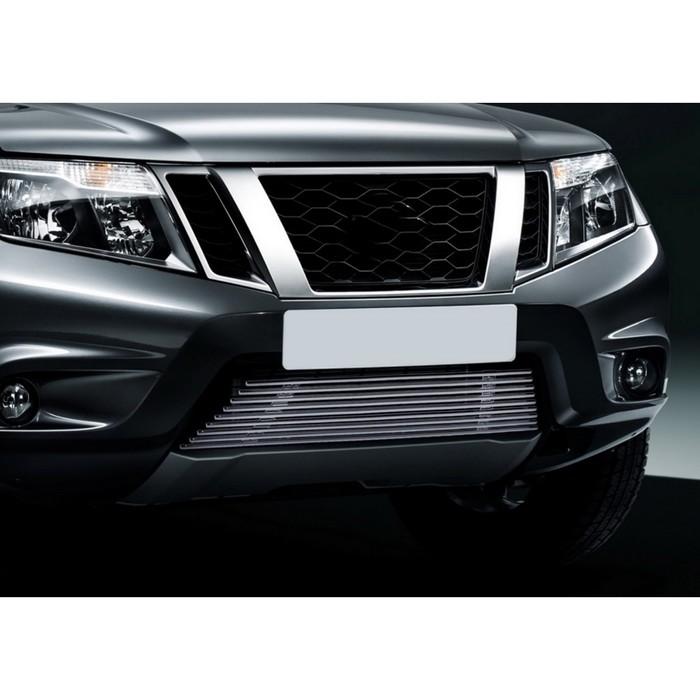 Решетка бампера Rival для Nissan Terrano 2014-, G.4119.001
