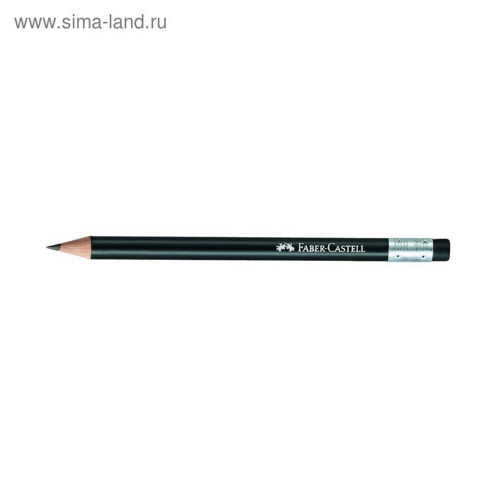 Карандаш чёрнографитный Faber-Castell Perfect Pencil B с ластиком, чёрный, картонная коробка
