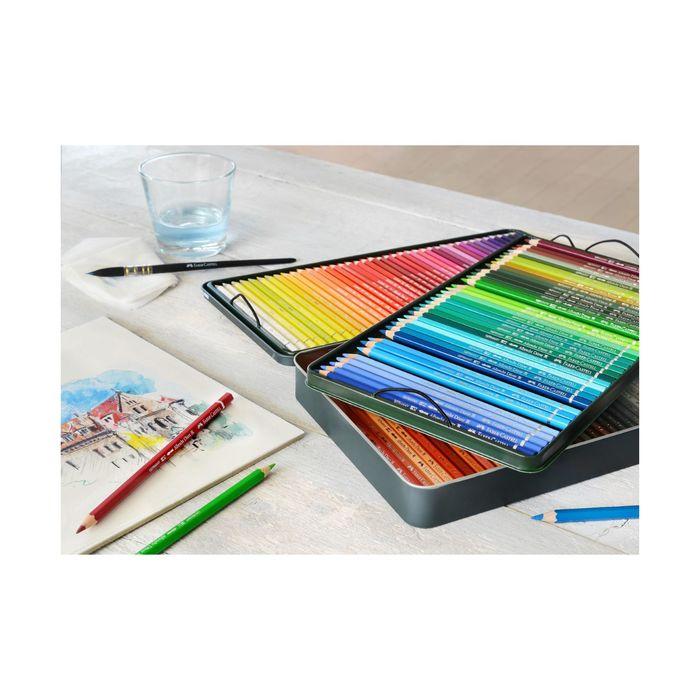 Карандаши худ цветные акварельные Faber-Castell Albrecht DÜRER® 120цв, мет/кор 117511