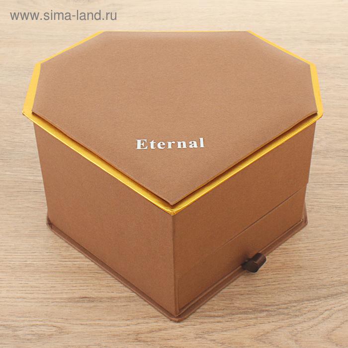 Коробка подарочная, цвет коричневый, 20 х 18,5 х 12 см