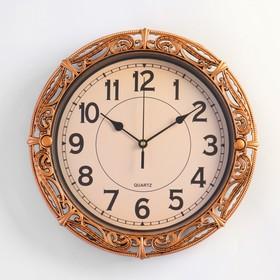 Часы настенные круг. рама под ажурный металл микс 30*30см Ош