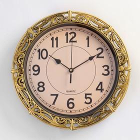 Часы настенные круг. рама под ажурный металл под антиквариат микс 30*30см Ош