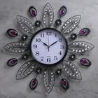 """Часы настенные, серия: Интерьер, """"Большие лепестки"""", фиолетовые кристаллы, d=61 см микс - фото 1751870"""
