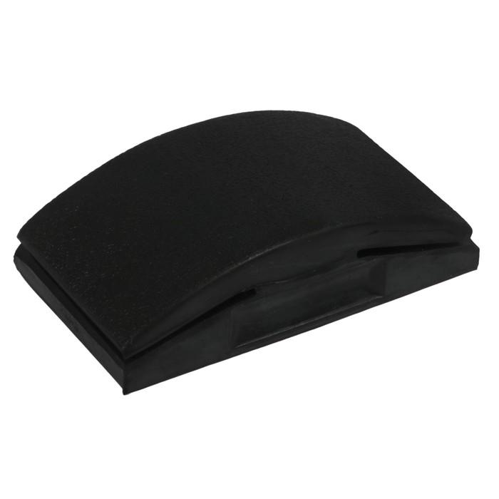 Блок шлифовальный резиновый, черный, 120x70 мм