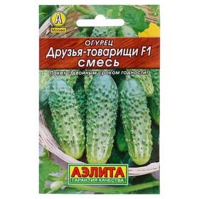 Семена Огурец Друзья-товарищи F1, смесь, 0,3 г (комплект из 40 шт.)