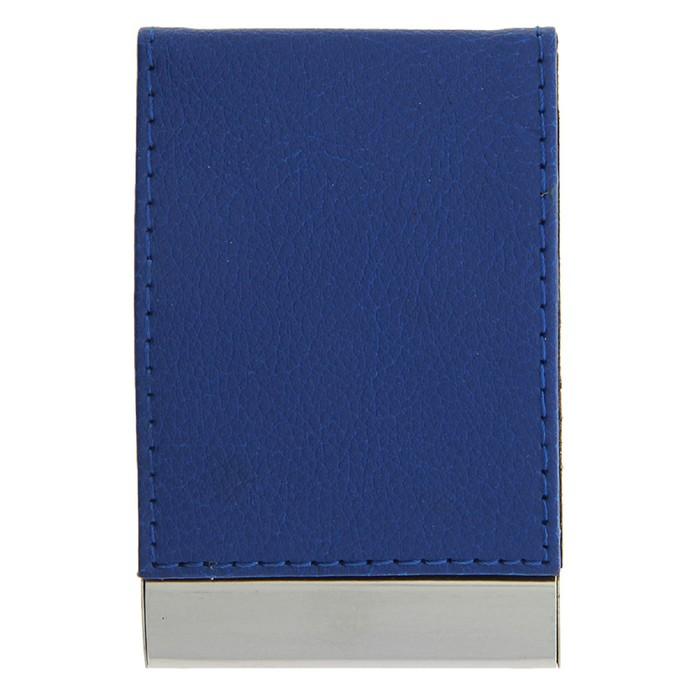 Визитница вертикальная, цвет синий