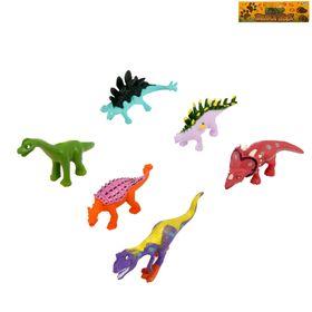Набор динозавров «Цветные динозавры», 6 фигурок, МИКС