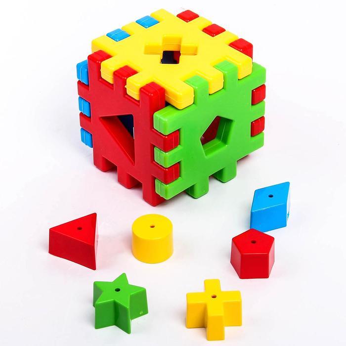 Игрушка-сортер развивающая «Волшебный куб», 12 элементов - фото 1025576