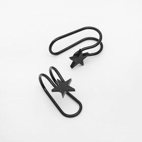 Пирсинг в ухо (плаг) 'Звезда', цвет черный Ош