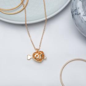 "Pendant ""Heart"" Cupid, three-dimensional, color gold, 45 cm"