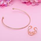 Набор 2 предмета: браслет, кольцо