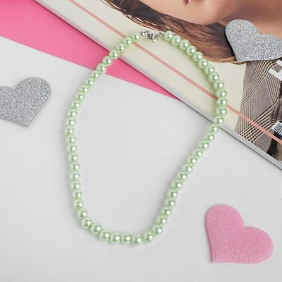 "The beads baby ""Vibracula"" pearls, 40 cm, color light green"