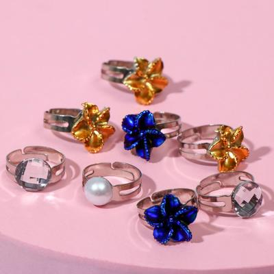 """Ring baby """"Assorted"""" flowers sparkly, form, MIX, MIX color"""