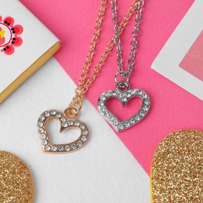 """Pendant """"Vibracula"""" heart, MIX color, 40 cm"""
