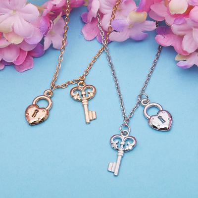 "Pendant ""Vibracula"" key with a lock, MIX color, 40 cm"