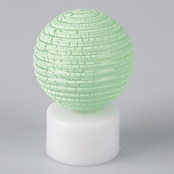 """Светильник """"Ребристый шар"""" (МИКС, 3xLR44 в комплекте) 5x5x7,5 см"""
